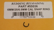 55036 Redding Comp Seating Die Seat Stem Snap Ring 6/25/6.5 cal