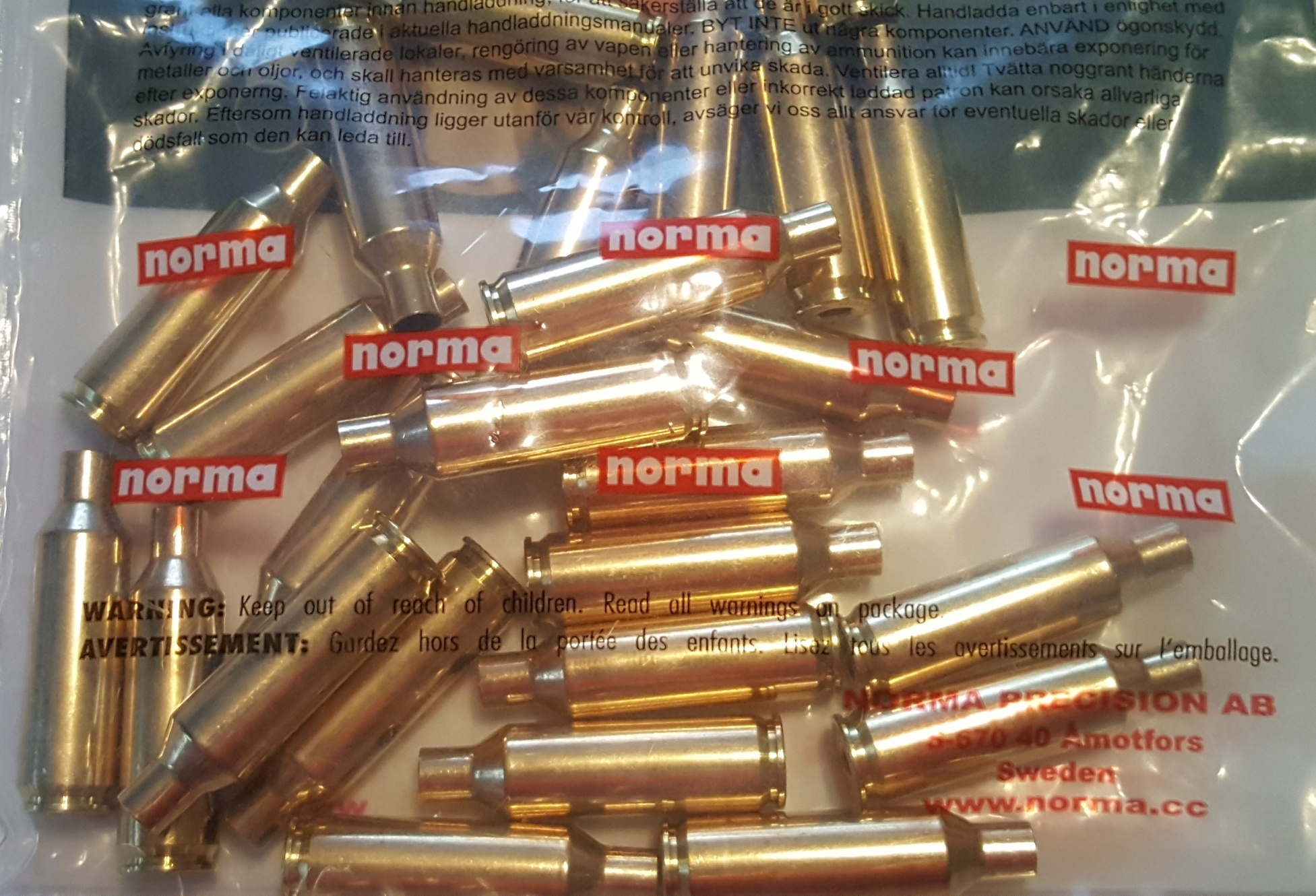 Norma Brass 7mm Rem Short Action Ultra Magnum SAUM 25 Count
